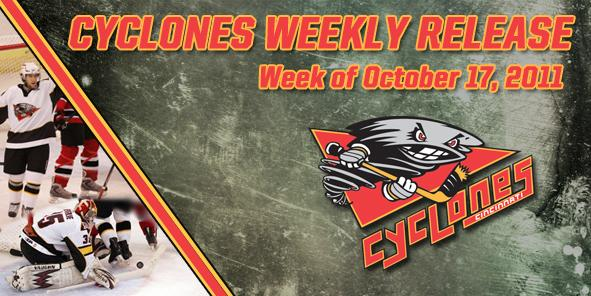 CYCLONES WEEKLY RELEASE - OCTOBER 17, 2011