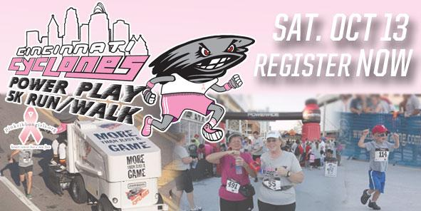 Register for the Cyclones Power Play 5K Run/Walk!!