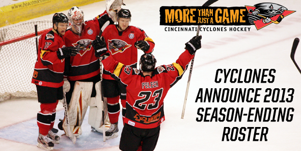 Cyclones Announce 2013 Season-Ending Roster