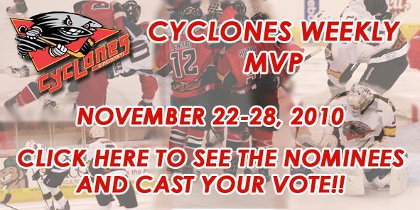 Vote for this Week's Cyclones MVP!!