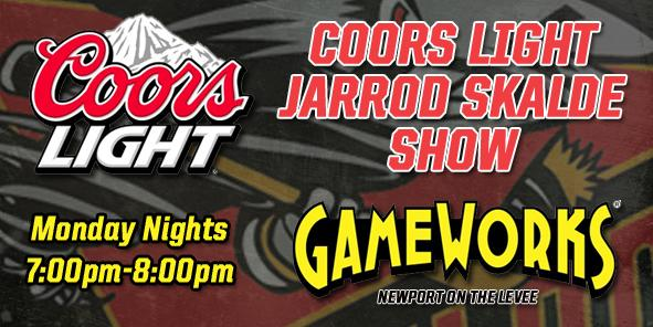 GameWorks on the Levee to Host 2011-12 Coors Light Jarrod Skalde Show!