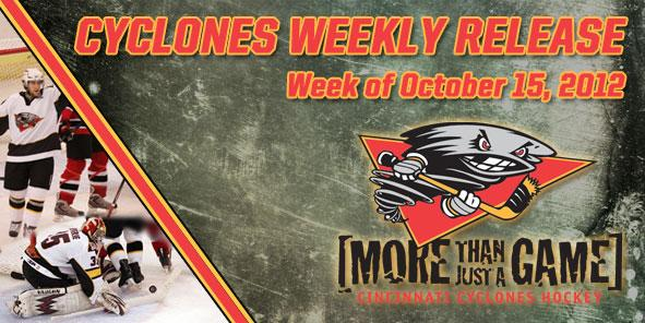 Cyclones Weekly Release - October 15-21