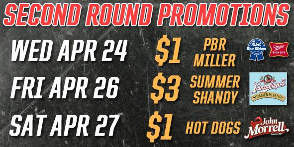 Cyclones Announce Second Round Promotional Schedule