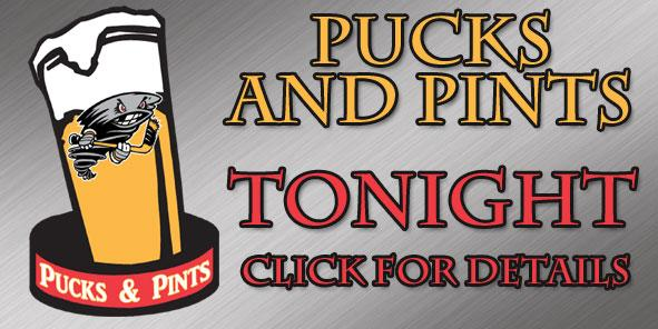 Join us for the FINAL Pucks N Pints Pre-game Beer Tasting TONIGHT