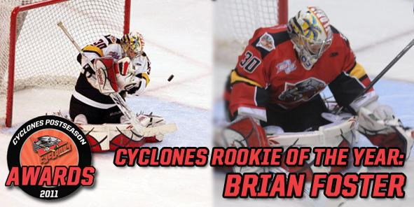 CYCLONES ROOKIE OF THE YEAR:  BRIAN FOSTER!