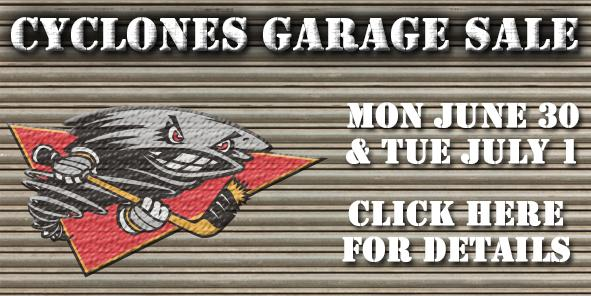 Cyclones Announce First Ever Garage Sale