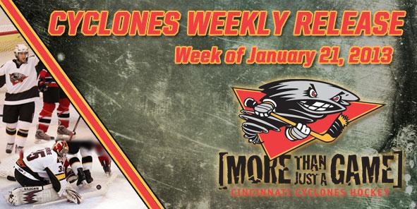 Cyclones Weekly Release - January 21-27, 2013