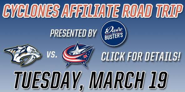 Cyclones Affiliate Road Trip - Tuesday, March 19