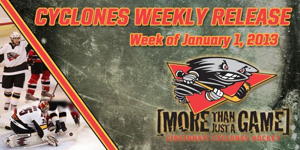 Cyclones Weekly Release - January 1-6, 2013