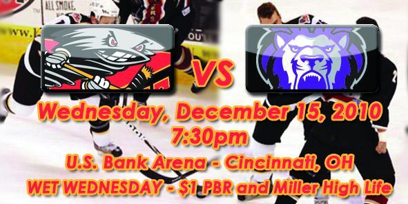 Cyclones Game Preview: Cincinnati vs. Reading - December 15, 2010