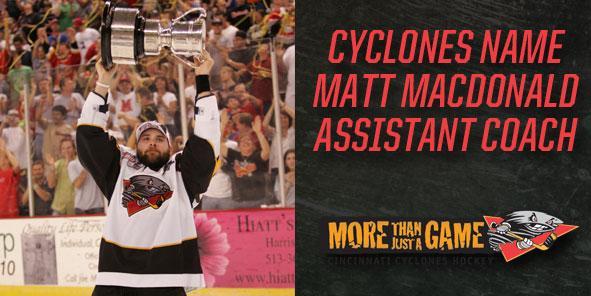 Cyclones Name Matt MacDonald as Assistant Coach