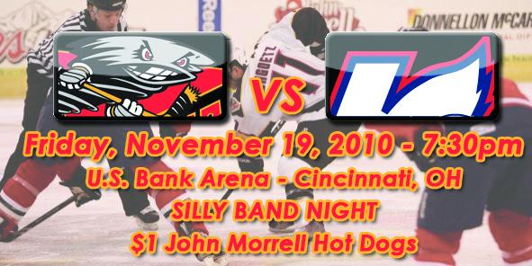 Cyclones Game Preview: Cincinnati vs. Kalamazoo - 11/19/10