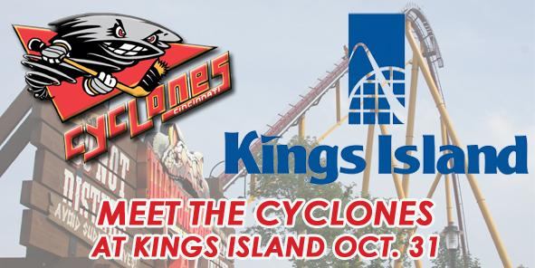 Meet the Cyclones at Kings Island THIS SUNDAY!!