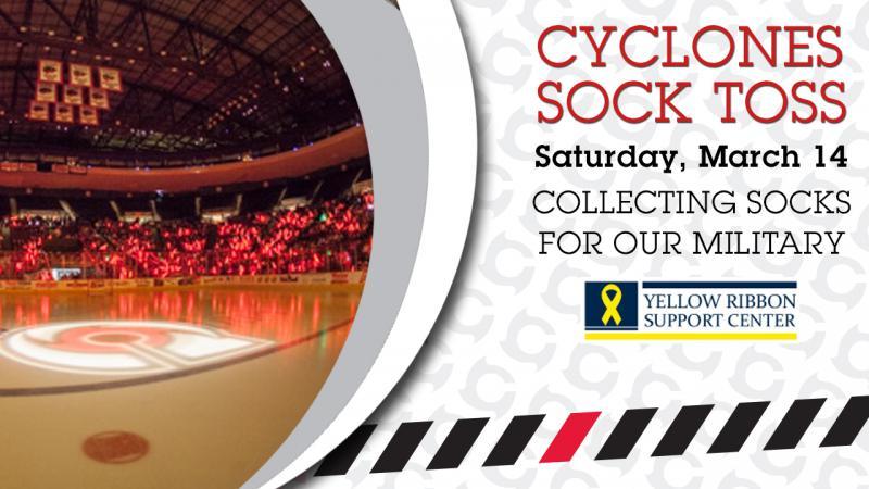 Cyclones Announce Inaugural Sock Toss