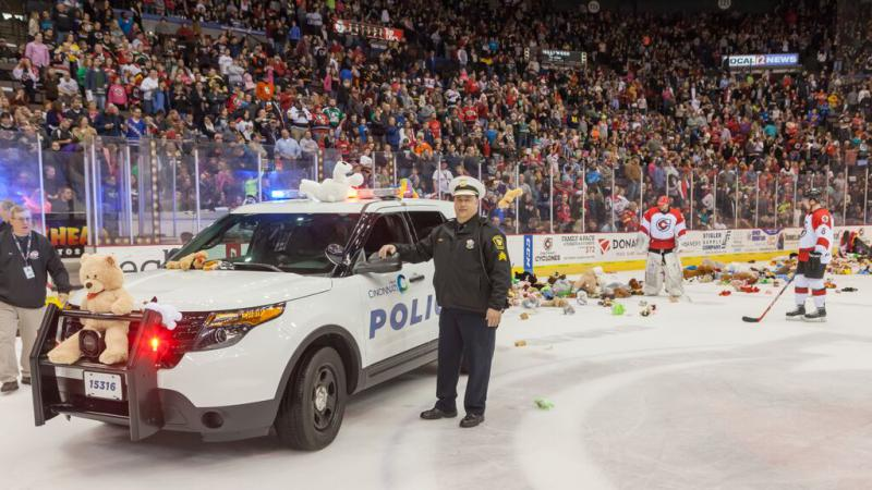 Cyclones Partner With CPD For Annual Teddy Bear Toss