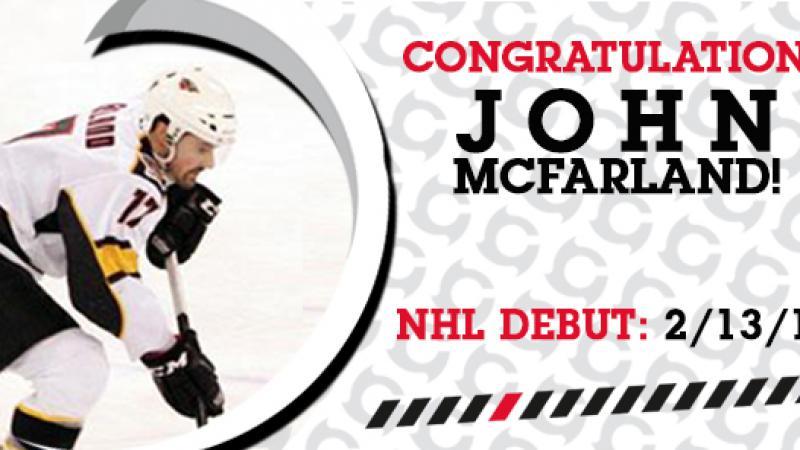 MCFARLAND MAKES NHL DEBUT
