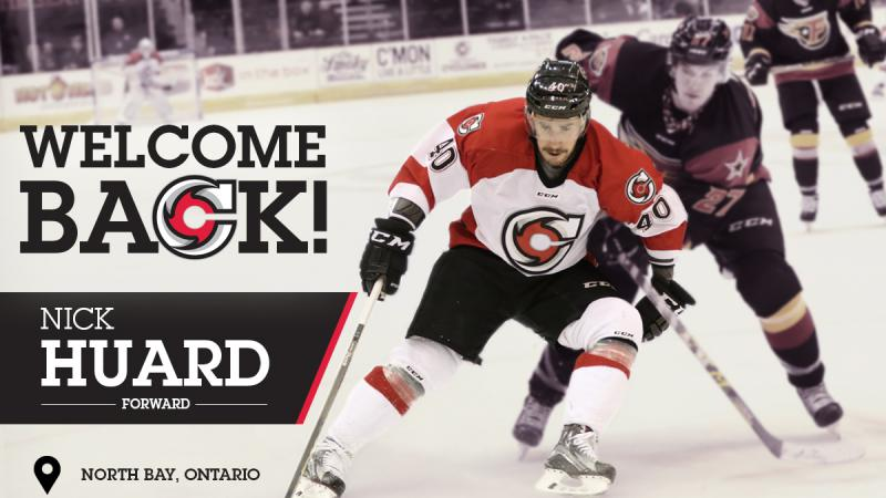 HUARD RE-SIGNS WITH CYCLONES