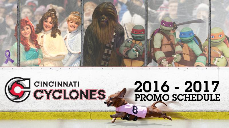 CYCLONES ANNOUNCE 2016-2017 PROMOTIONAL SCHEDULE
