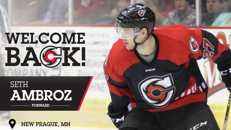 AMBROZ RETURNS TO CYCLONES' LINEUP