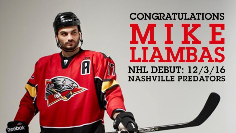 LIAMBAS MAKES NHL DEBUT