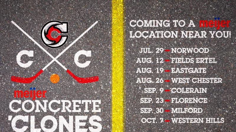 CYCLONES ANNOUNCE MEIJER CONCRETE CLONES DATES