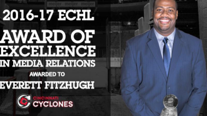 FITZHUGH RECEIVES ECHL AWARD OF EXCELLENCE FOR MEDIA RELATIONS
