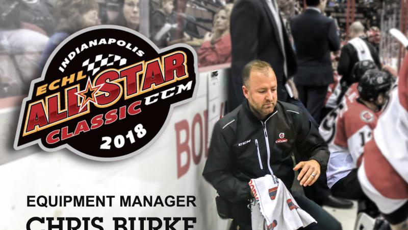 BURKE SELECTED AS ALL-STAR EQUIPMENT MANAGER