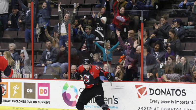 CYCLONES GET FIVE UNANSWERED TO EARN THIRD IN A ROW AGAINST MAVERICKS