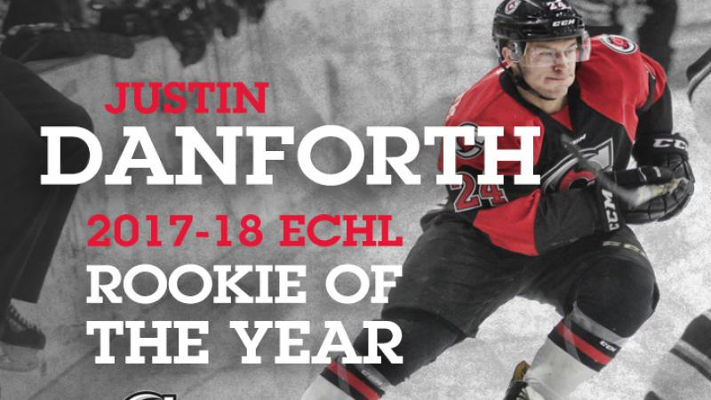 DANFORTH NAMED ECHL ROOKIE OF THE YEAR