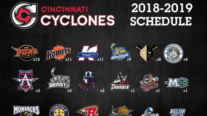 CYCLONES ANNOUNCE 2018-19 SEASON SCHEDULE