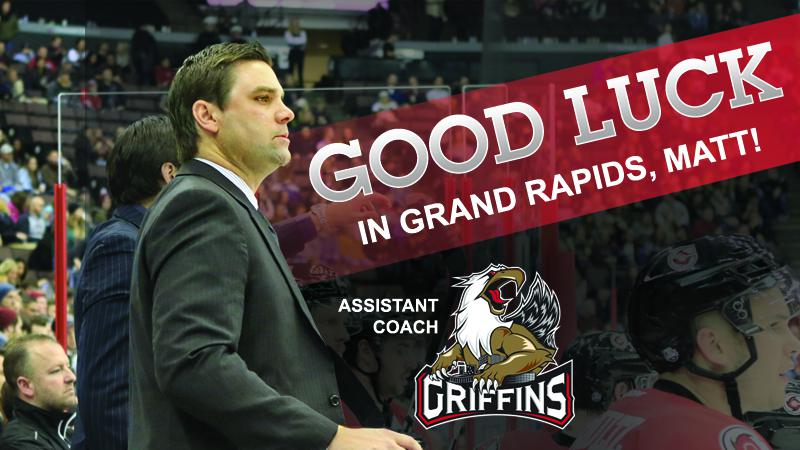 MACDONALD NAMED ASSISTANT COACH IN GRAND RAPIDS