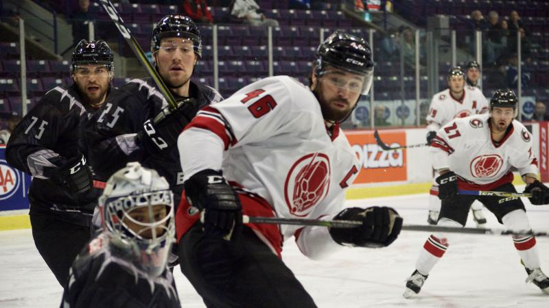 CYCLONES OUTSHOOT BRAMPTON IN ROAD LOSS
