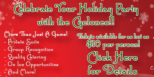 Celebrate YOUR Holiday Party With the Cyclones