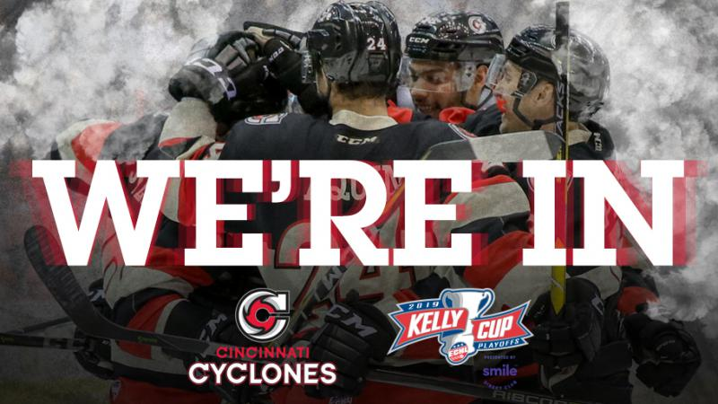 CYCLONES CLINCH SPOT IN 2019 KELLY CUP PLAYOFFS
