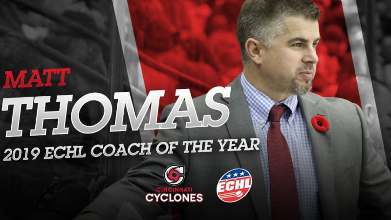 THOMAS NAMED ECHL COACH OF THE YEAR