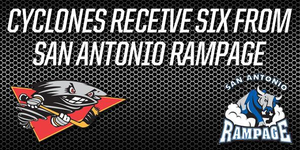 Cyclones Receive AHL Reinforcements from San Antonio