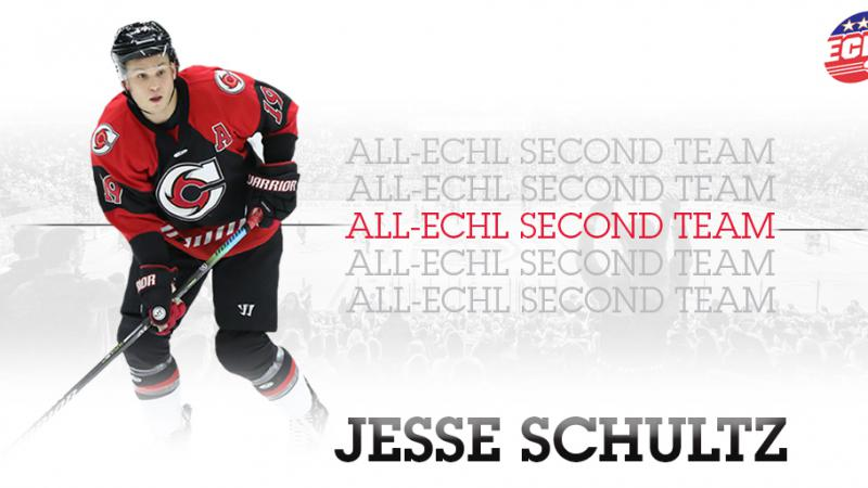 SCHULTZ NAMED TO ALL-ECHL SECOND TEAM