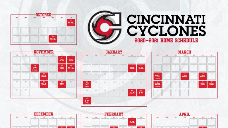 Cyclones Announce 2020-2021 Home Schedule