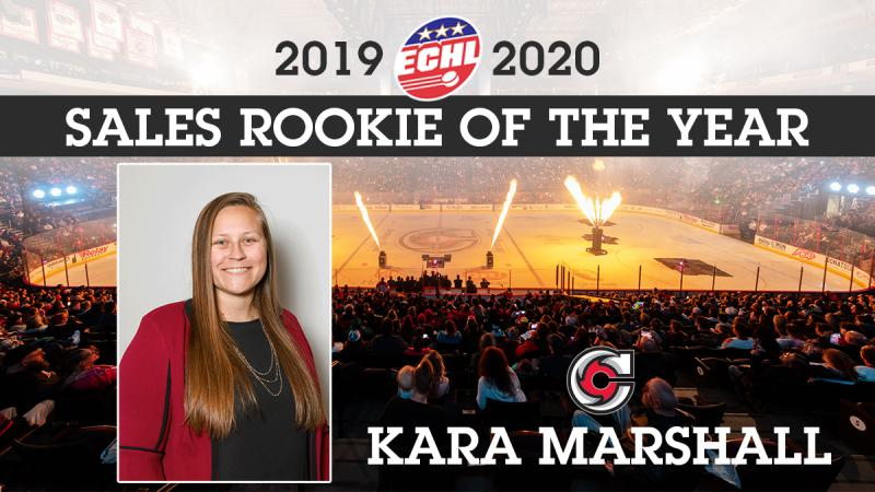 Kara Marshall Wins ECHL Sales Rookie Of The Year