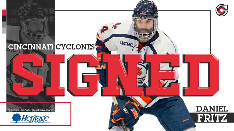 Cyclones Sign Rookie Daniel Fritz