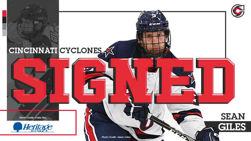 Cyclones Sign Sean Giles
