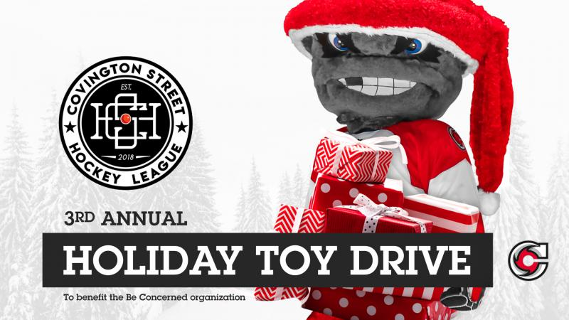 Cyclones Assist On Covington Street Hockey League Toy Drive