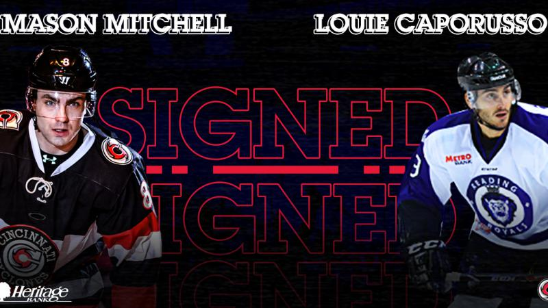 Mason Mitchell Returns, Caporusso Signs