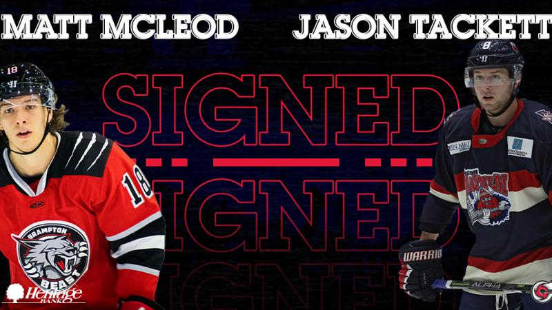 Forwards McLeod, Tackett Sign With Cyclones