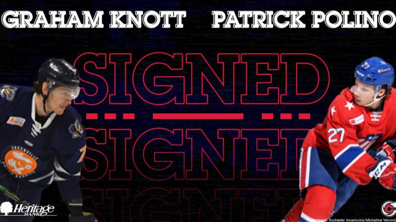 Cyclones Add AHL Experience With Knott, Polino
