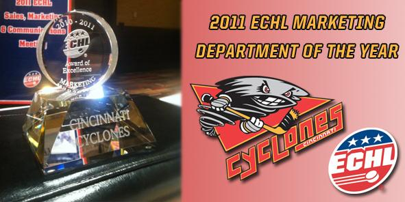 Cyclones Awarded 2011 ECHL Marketing Department of the Year