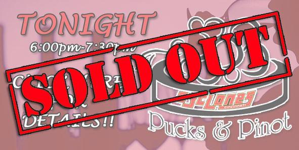 Pucks N Pinot SOLD OUT!!