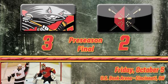 Cyclones Rally for 3-2 Preseason Win Over Wheeling