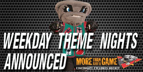 Preliminary Weekday Theme Nights Announced