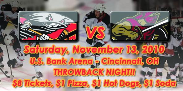 Cyclones Game Preview: Cincinnati vs. Gwinnett - 11/13/10